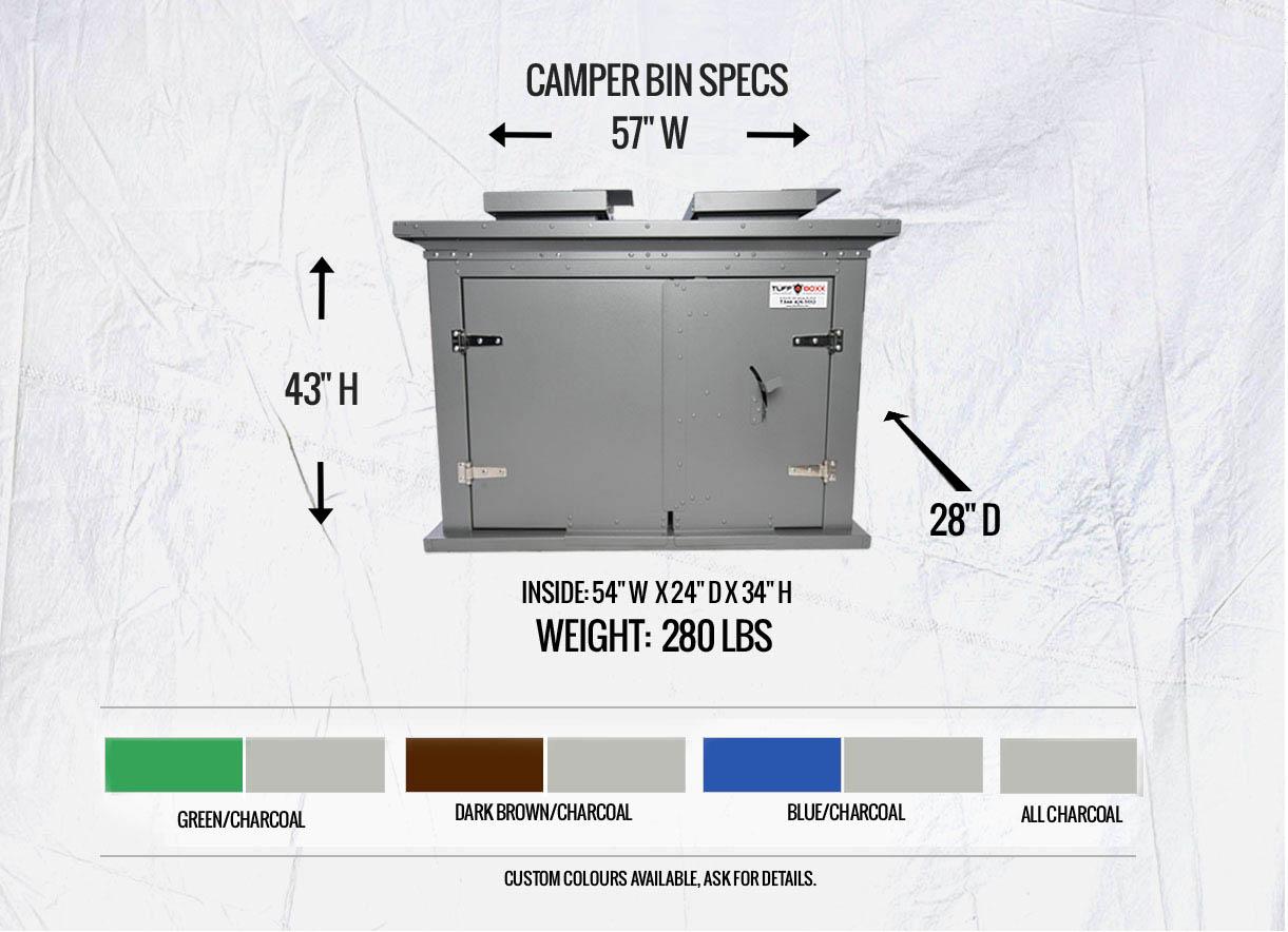 Polar Camper Bin Specs